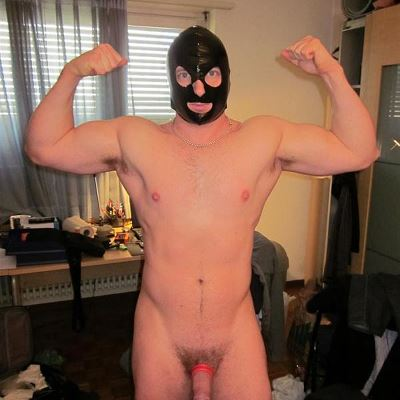 Gay Spandex Lycra Hoods photos